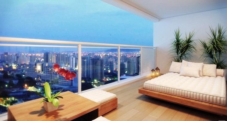 diseño terraza moderna original cama