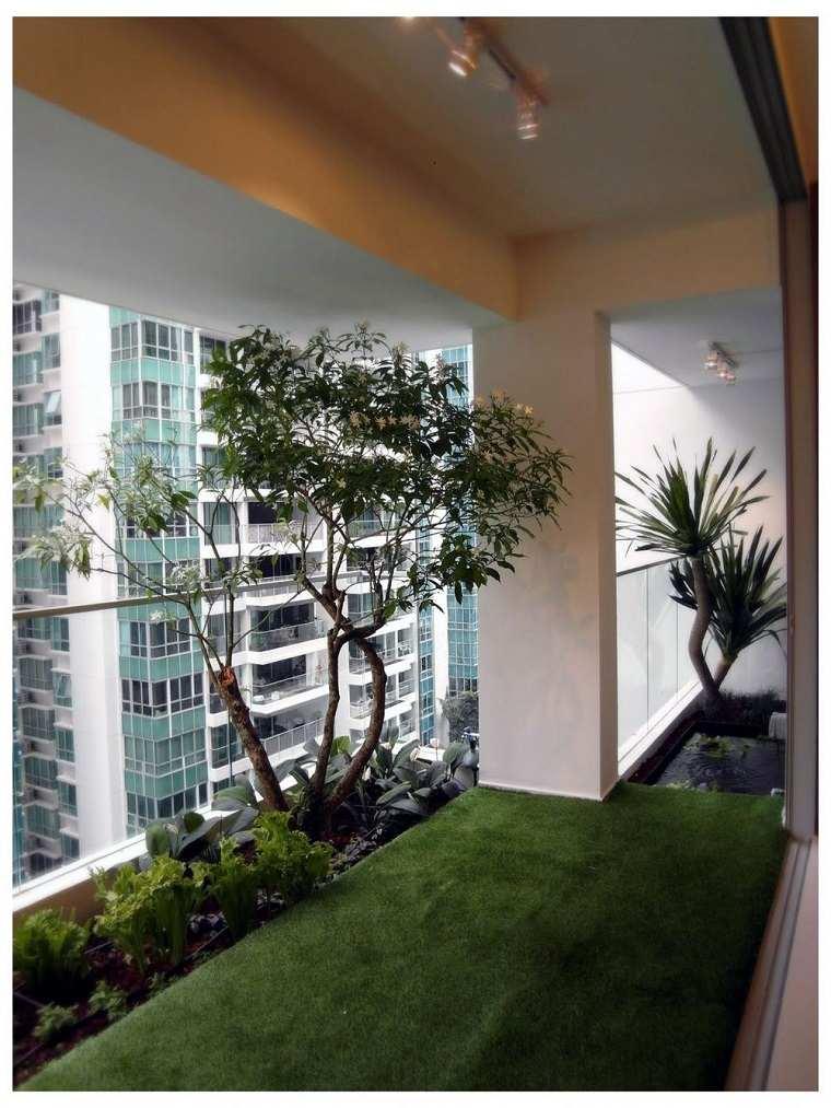 diseño moderno vegetación balcón