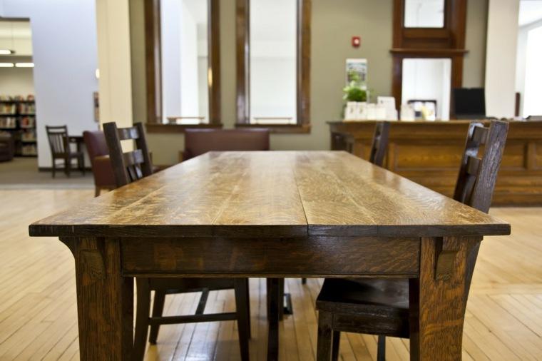 diseño mesa madera solida natural