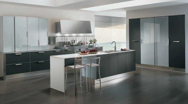 diseño moderno cocina gris