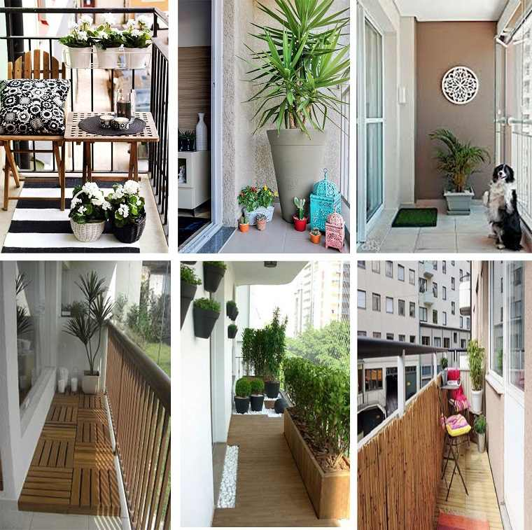 Decoracion de balcones y terrazas peque as 99 ideas for Plantas para balcones