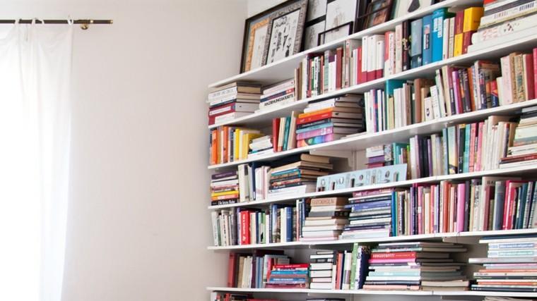 diseños mueble biblioteca estilo moderno