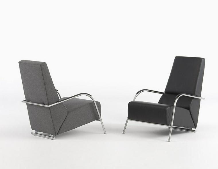 sillones modernos oficina colores oscuros