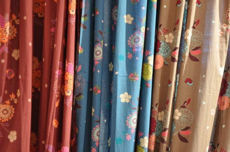 diseos floreados cortinas colores