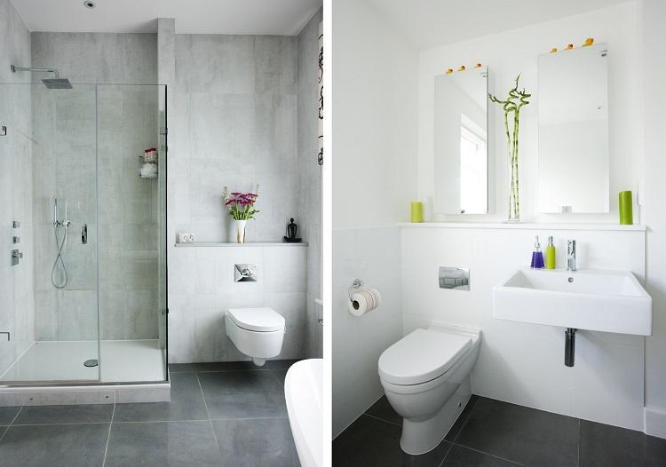 Baños Aseos Modernos:Sanitarios pequeños – diseños prácticos y funcionales -