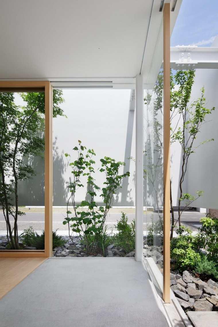 diseño patio estilo moderno