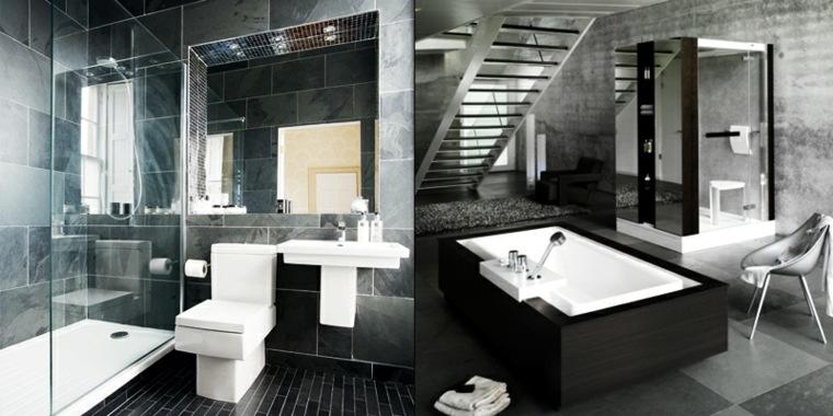 Baño Minimalista Gris:diseños modernos baños color gris