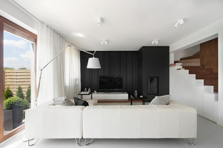 diseños modernos color salon blanco