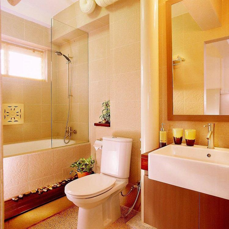 cuarto baño colores neutros