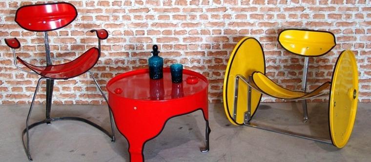 diseños originales muebles reciclados plastico