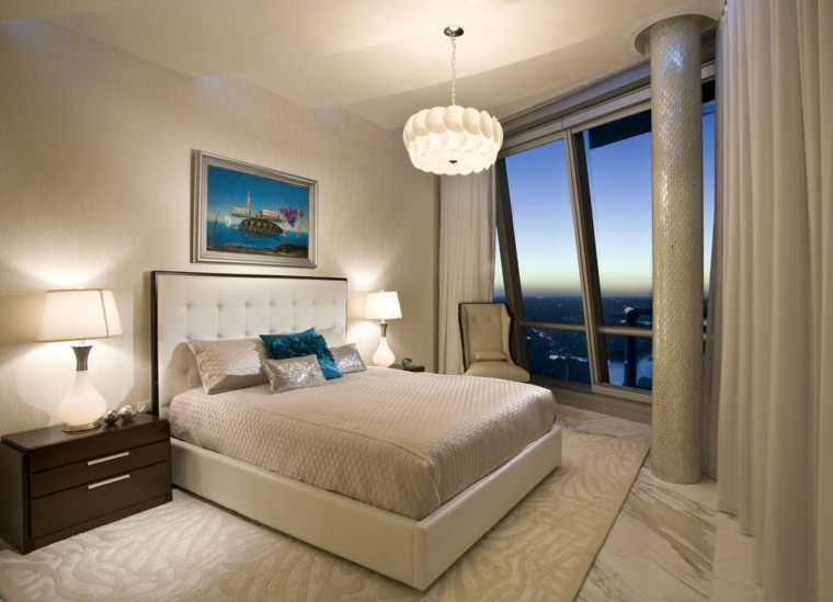 dormitorio diseno moderno cojines decorativos ideas