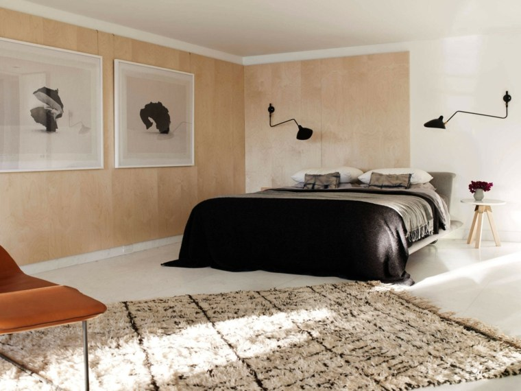 dormitorio diseno moderno paredes madera ideas