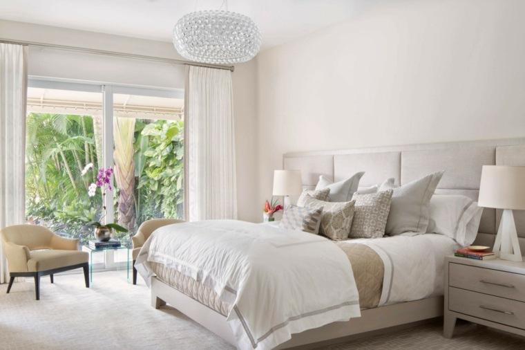 dormitorio diseno moderno sillones amarillo claro ideas