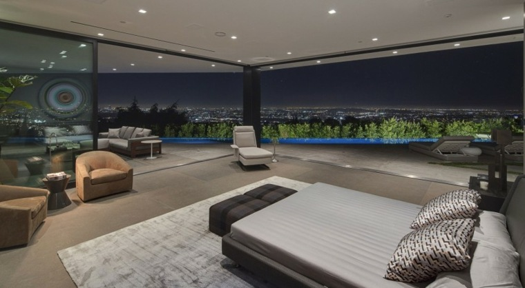 dormitorio diseno moderno sillones vistas ideas