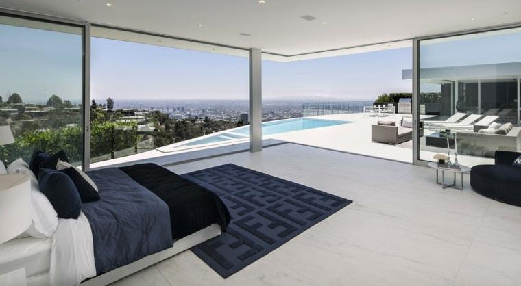dormitorio diseno moderno terraza amplia vistas ideas
