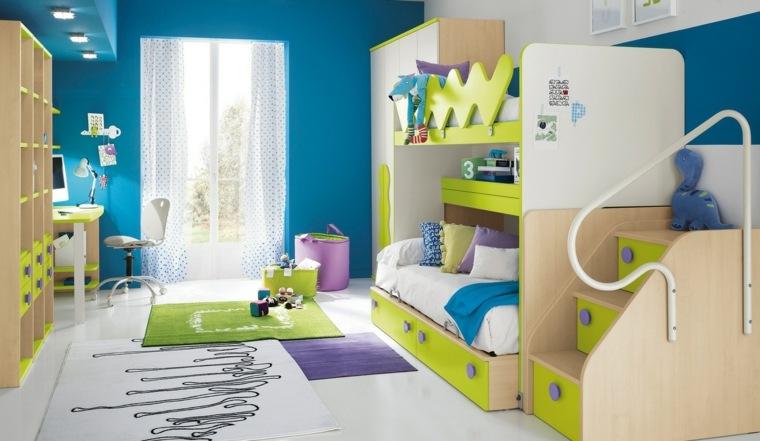 dormitorio infantil paredes azules
