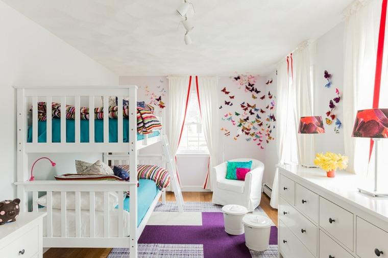dormitorios infantiles modernos color blanco
