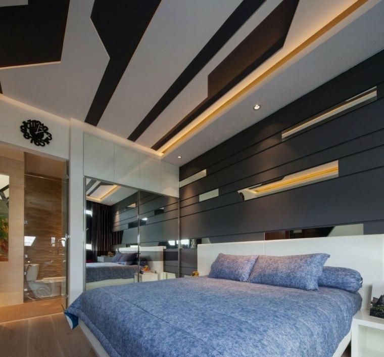 dormitorios originales armarios puertas cristal techo precioso ideas