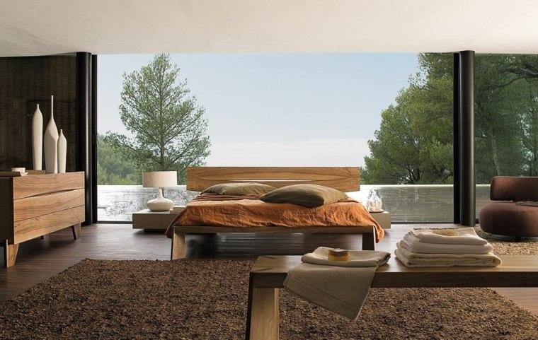 dormitorios originales cama madera detalles blancos ideas