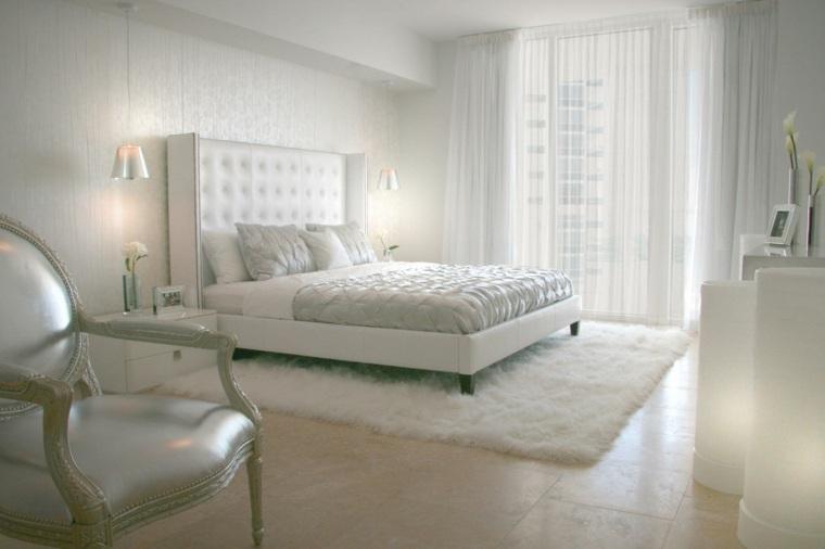 dormitorios originales diseno interior clasico cama blanco ideas