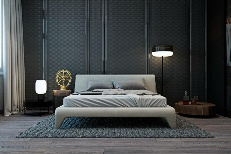 dormitorios originales texturas cama alfombra ideas