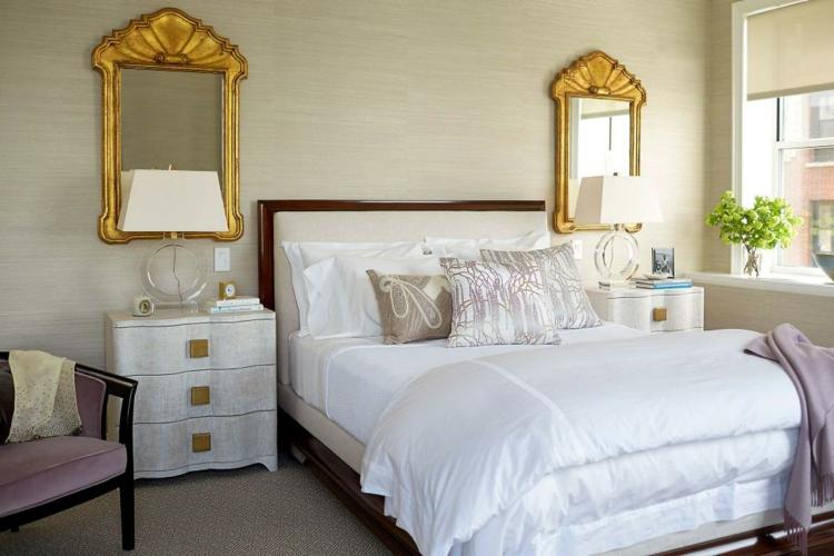 dormitorios vintage dorados secuencia espejos