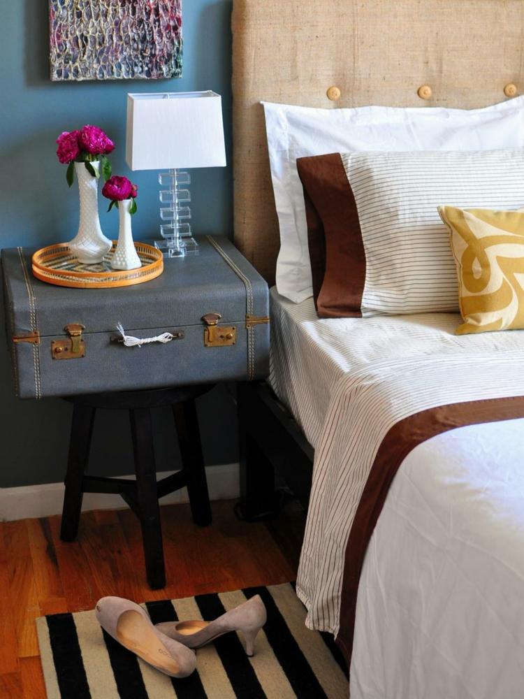 dormitorios vintage espejo maletas decorado viajes