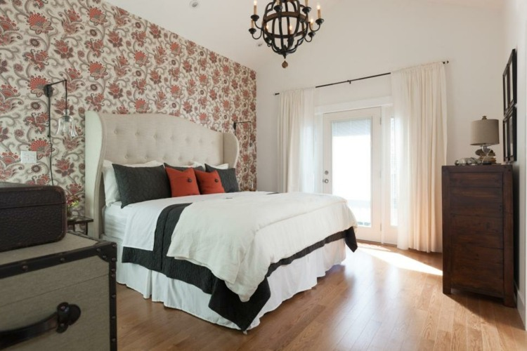 dormitorios vintage espejo mesa baules rustico