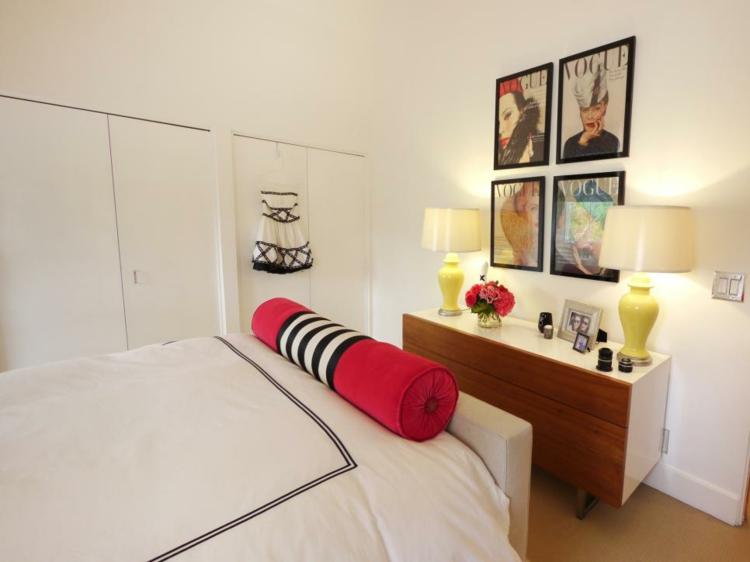 dormitorios vintage espejo mesa cuadros cojines