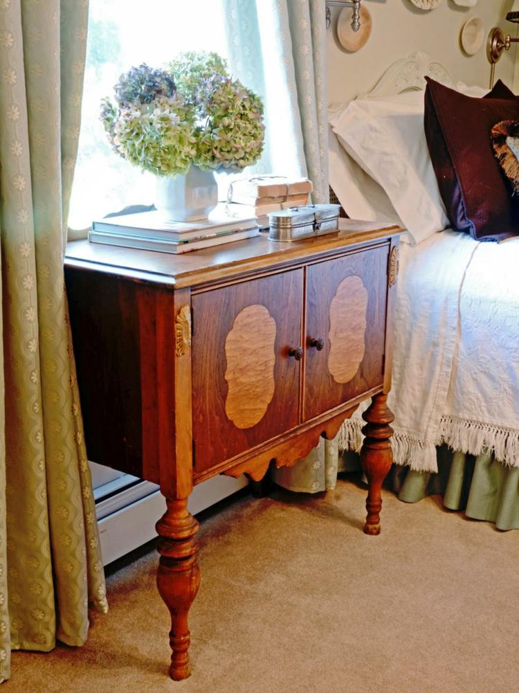 dormitorios vintage espejo mesa florales arreglo