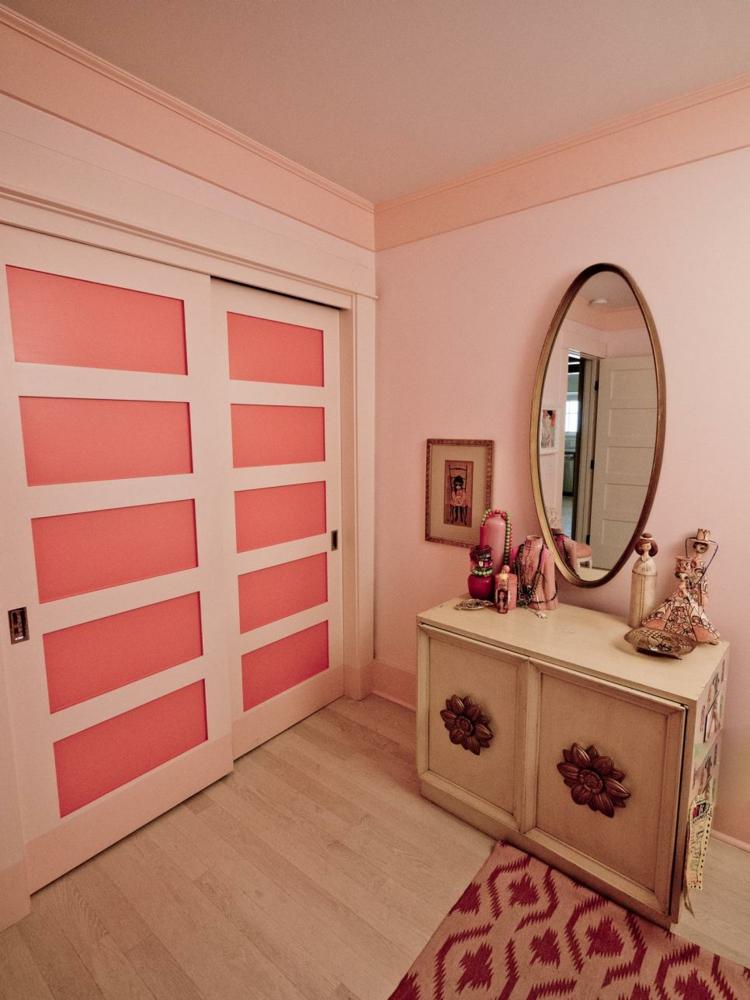dormitorios vintage espejo mesa mobiliario ovalado