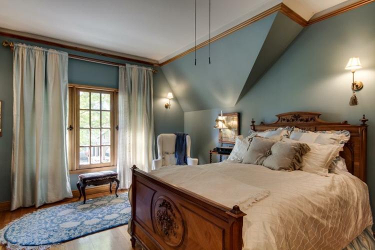 dormitorios vintage espejo mesa tendencias verde