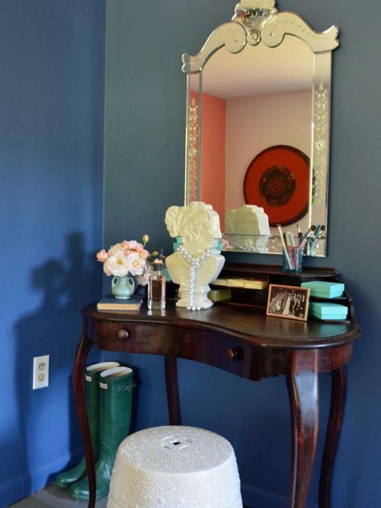 dormitorios vintage espejo mesa espejo