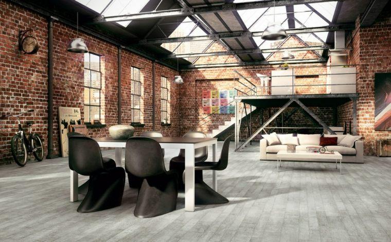 diseños modernos apartamentos industrialñes dsieño moderno ladrillop visto espacios interior diseño industrial