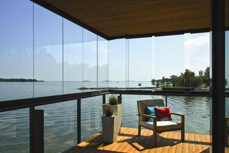 terraza moderna acristalada paneles