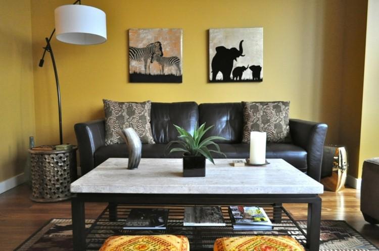 elefantes cuadros decorado colmillo cuernos