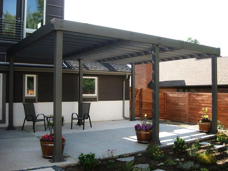 elegantes decorados cemento patio colores