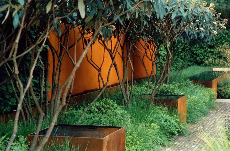 vallas jardineras exterior Corten