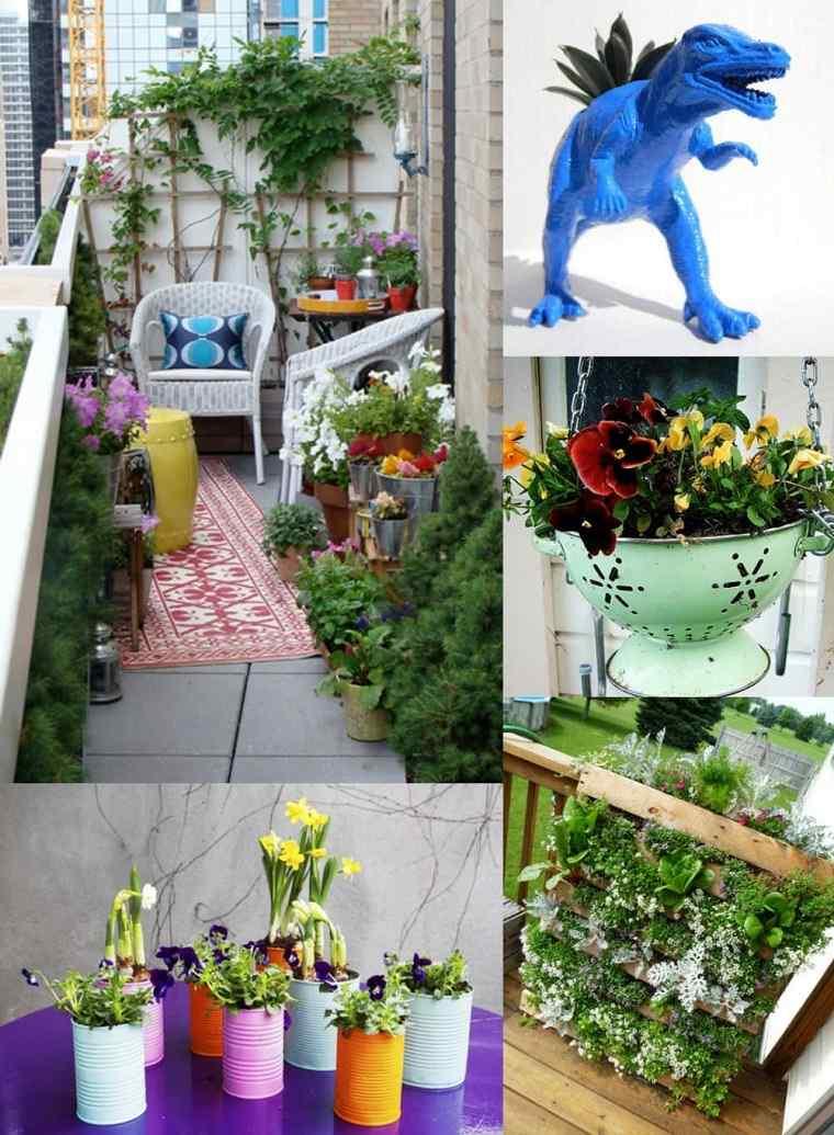 Decoracion de balcones y terrazas peque as 99 ideas geniales - Adornos para terrazas ...
