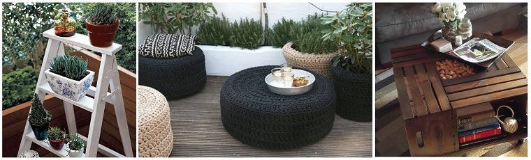 elementos decorativos macetas terraza