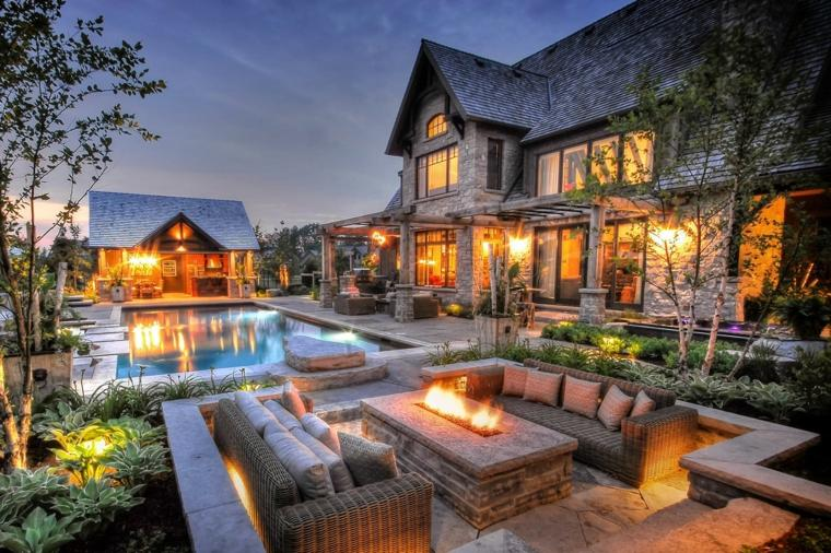 aire libre mesa fuego sofas ideas pisicna