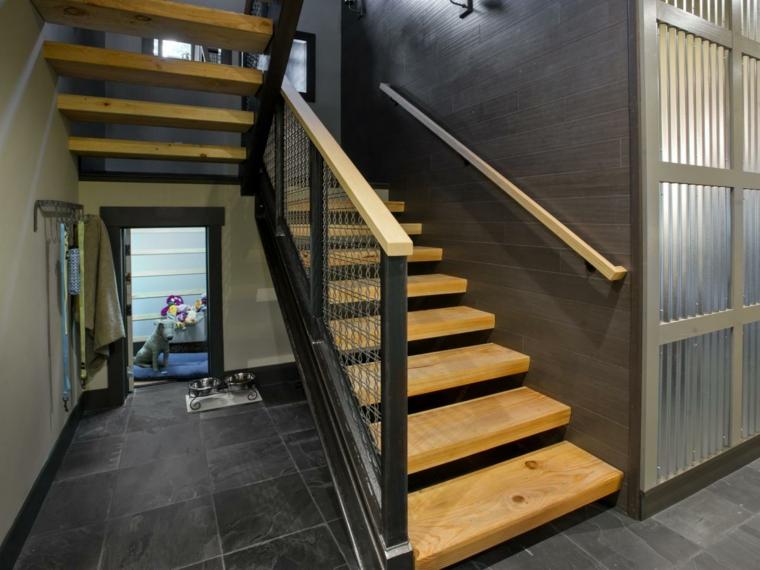 Escaleras de interior modernas 50 dise os que marcan for Escalera interior de troncos