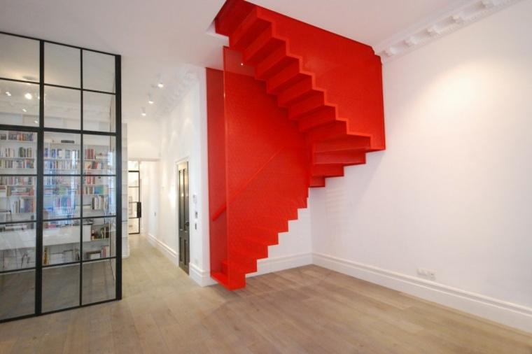 Escaleras de interior modernas 50 dise os que marcan for Escalera de cemento con descanso