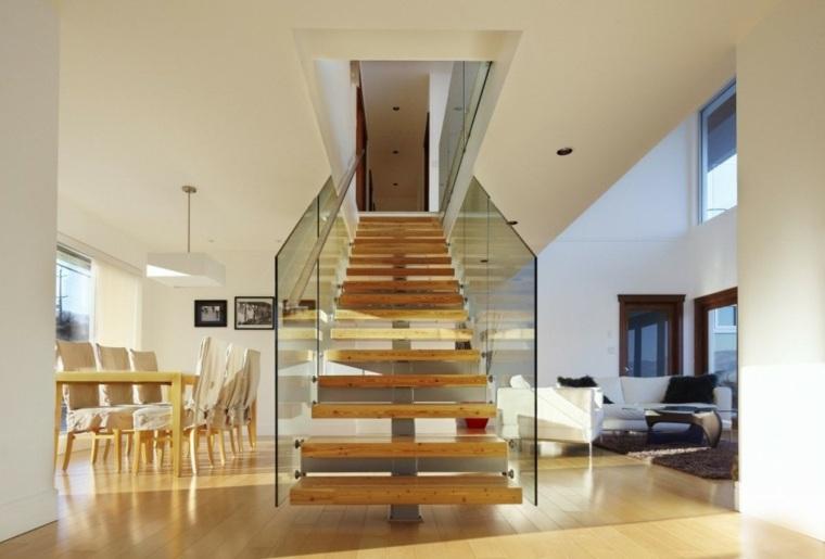 Escaleras de interior modernas 50 dise os que marcan - Salones con escaleras ...