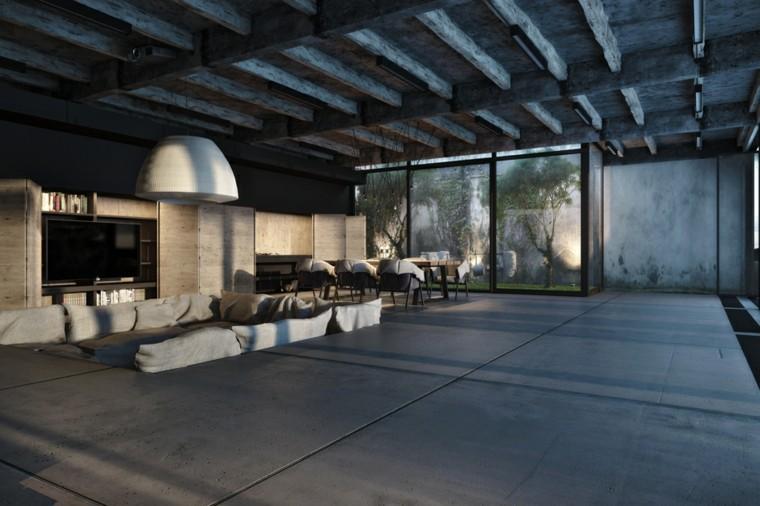 espacios interior diseño industrial moderno