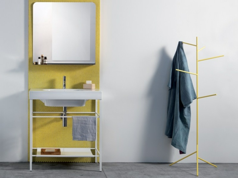espejos para baño bonitos toques verde ideas