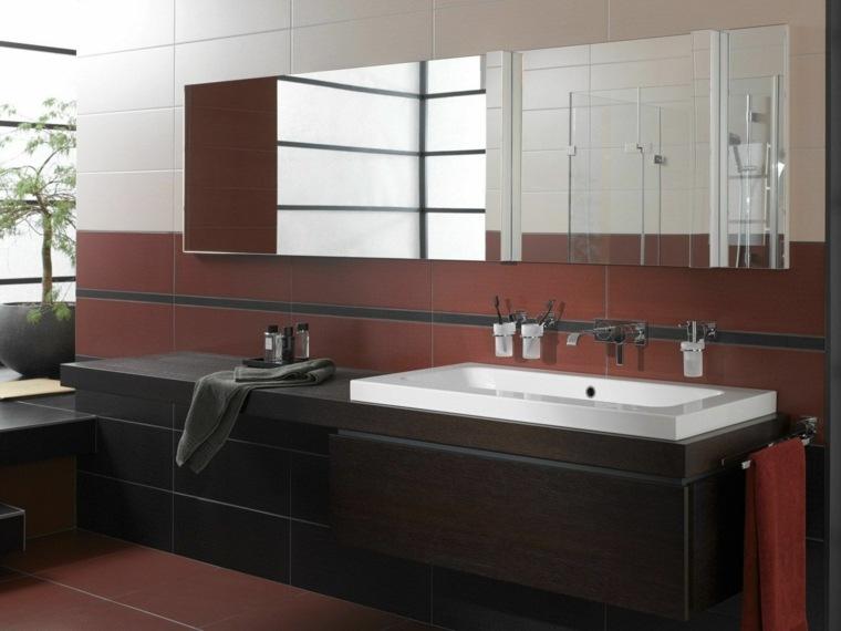 Espejos para ba o 25 dise os para decorar la pared for Espejos para banos pequenos