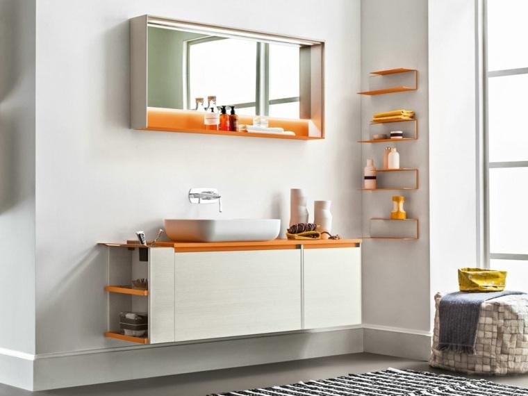 Espejos para ba o 25 dise os para decorar la pared - Espejos de banos modernos ...