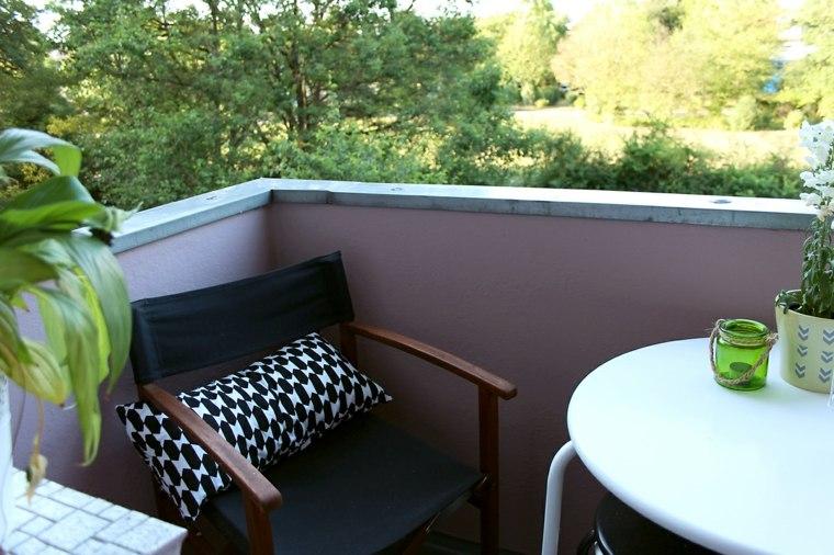 esquina terraza silla cojin
