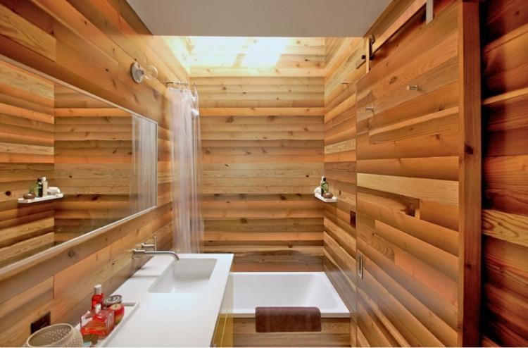 estilo japones interiores casas duchas calido